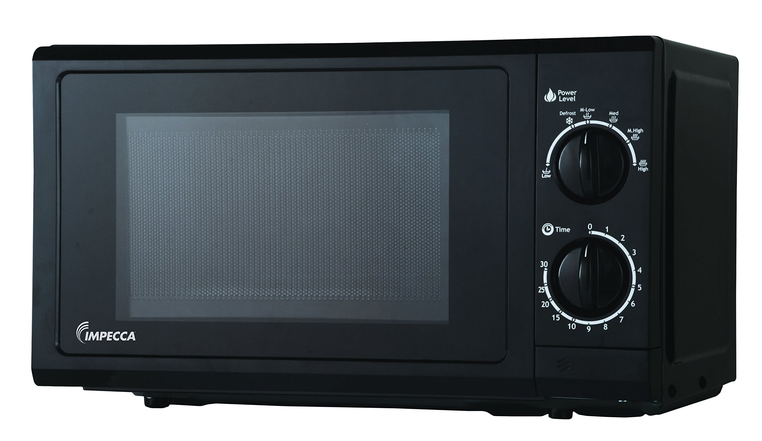 Impecca CM0674 700-Watts Countertop Microwave Oven, 120V 0.6 Cubic Feet, Black