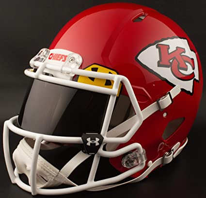 Image Unavailable. Image not available for. Color  Riddell Custom Kansas  City Chiefs Full Size NFL Speed ... 0705d0516