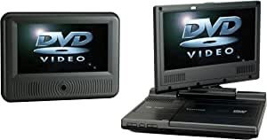 Venturer (PVS19388IR) Swivel Dual-Screen Portable/Mobile DVD Player - Set of Two 8-Inch LCD Screens   New Gift Box   Remote   Car Power Adapter   AC Charger (1 Year Warranty) (Renewed)