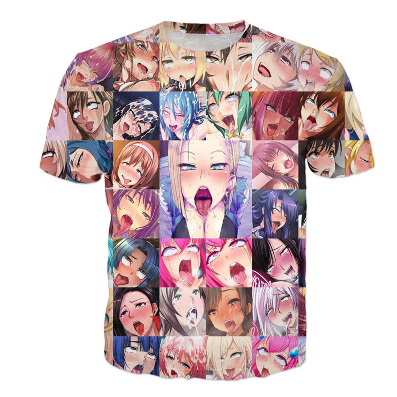 color ahegao t shirt