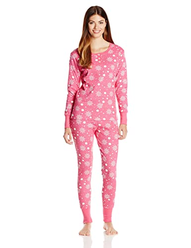 54b39178a0 Amazon.com  Bottoms Out Women s Patterned Thermal Pajama Set ...
