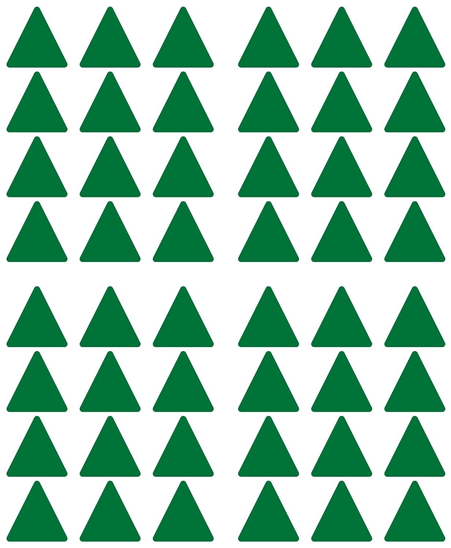 Klebemarkierung 50 mm PVC Folie Vinyl Sticker 48 Aufkleber Dreieck gr/ün selbstklebend gl/änzend