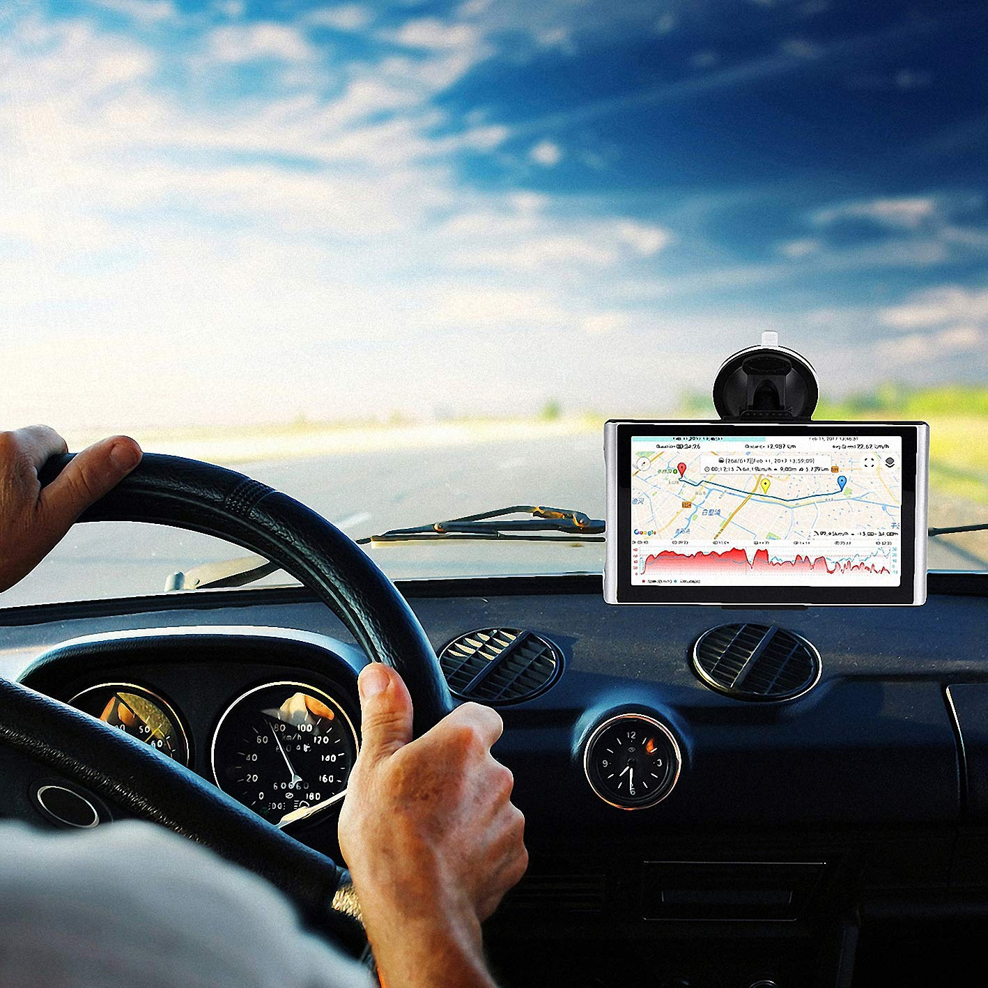 7 inches Car GPS 8GB Navigation System for Cars Lifetime Map Updates Touch Screen Real Voice Direction Vehicle GPS Navigator