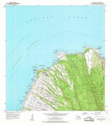 Amazon.com: Hawaii Maps   1956 Honolua, HI USGS Historical ...