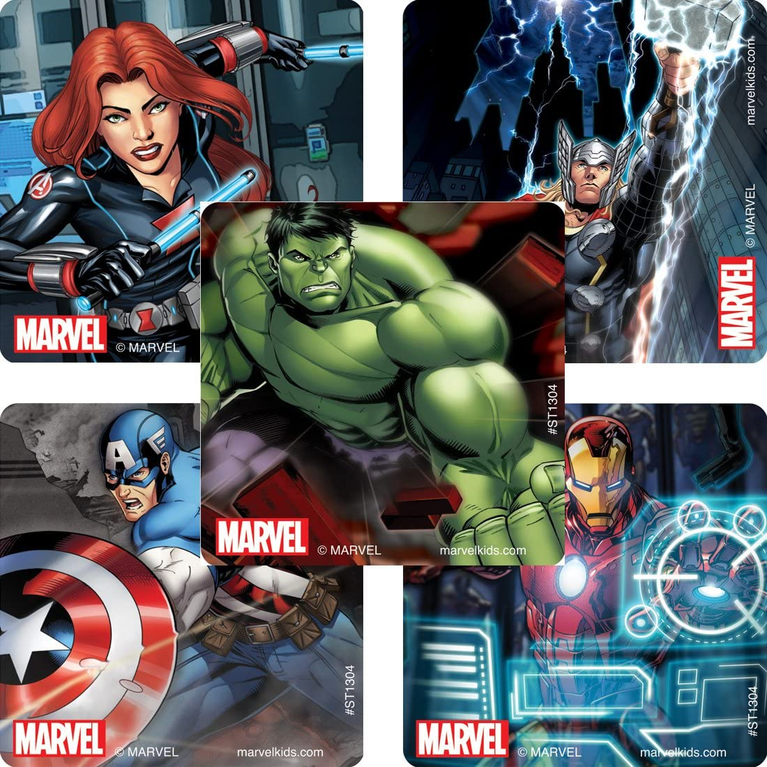 SmileMakers Avengers Classic Stickers - Prizes 100 per Pack