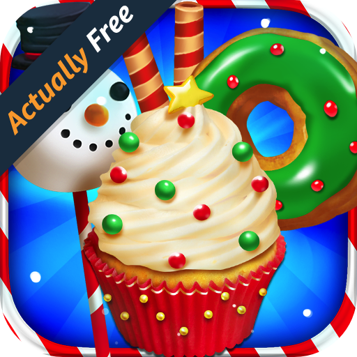 Santa Christmas Dessert Bake Shop – Make, Bake & Cook Donuts, Ice Cream, Cake Pops, Cupcakes, Cookies, Popsicles, Cakes! Kids Candy Kitchen Cooking Food Maker Restaurant FREE Game