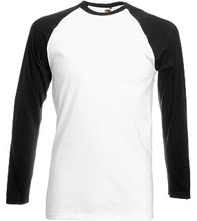 0c45d2a6 Mens Fruit of the Loom Long-Sleeve Baseball T Shirt, Mens Cotton ...
