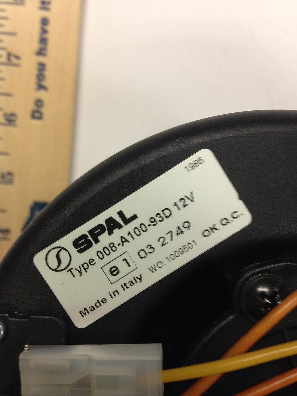 008 A100 93d 12v Spal Automotive Blower Motor 008a10093d Wiring Diagram
