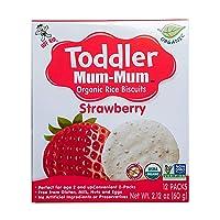 Hot-Kid Toddler Mum-Mum Rice Biscuits, Organic Strawberry, Organic, Gluten Free,...