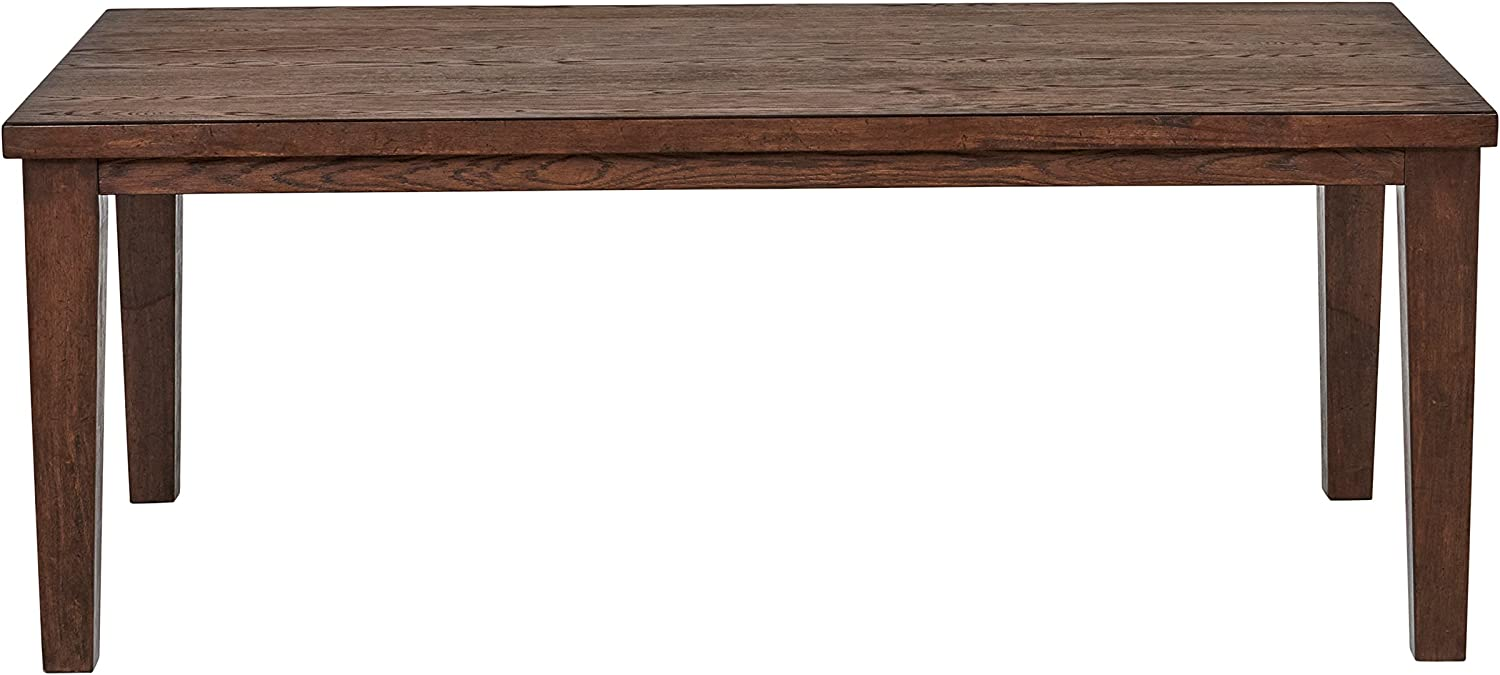 Stone Beam Dunbar Modern Wood Dining Room Kitchen Table, 78 Inch Wide, Oak