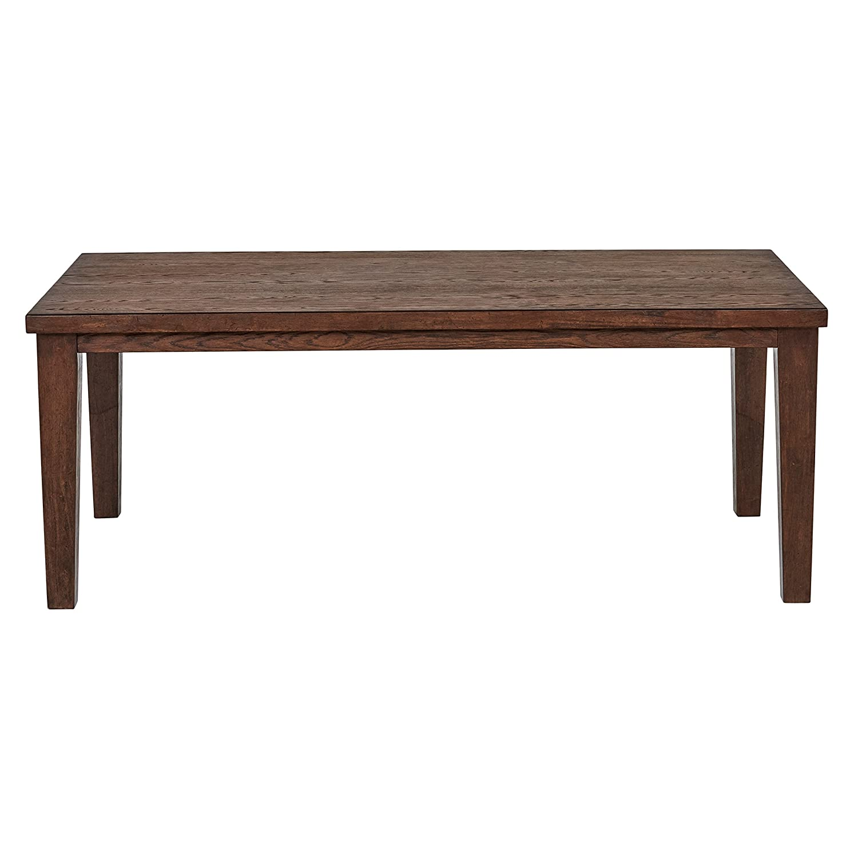 Stone Beam Dunbar Modern Wood Dining Room Kitchen Table, 78 Inch Wide, Oak