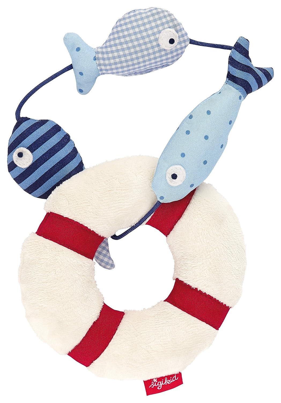 sigikid, Mädchen und Jungen, Aktivdecke Fisch, Maße 133 x 69 cm, Toy Ahoi, Beige/Blau, 40988 Mädchen und Jungen Maße 133 x 69 cm