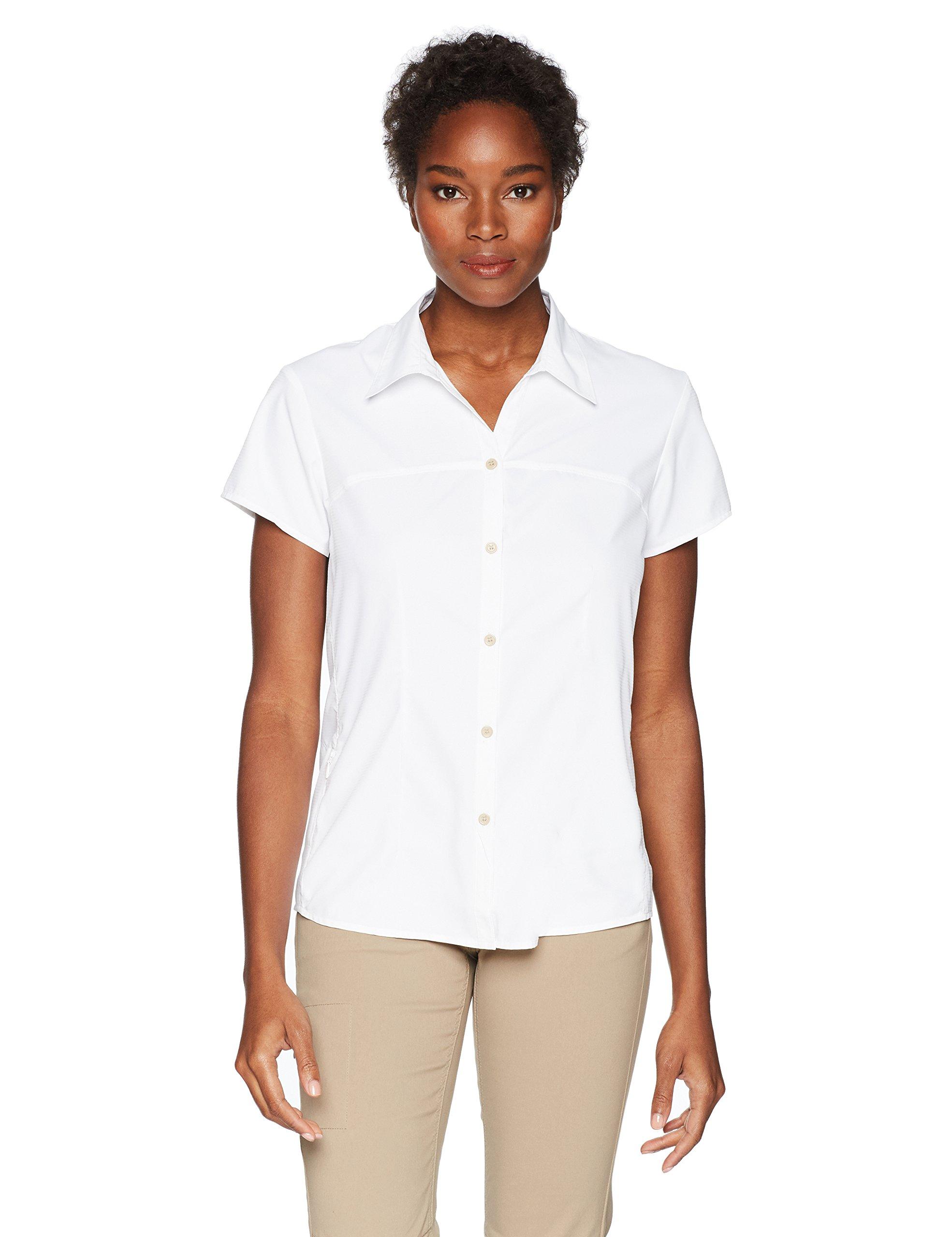 White Sierra Women's Gobi Desert Short Sleeve Shirt, White, Large