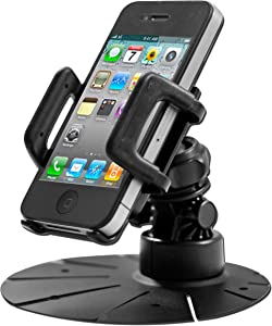 Desktop or Dashboard Phone Mount Holder for Samsung Galaxy S8, Galaxy S8 Plus, Apple iPhone X, iPhone 8, iPhone 8 Plus. with horizontal or vertical adjustments.