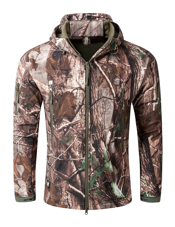 メンズアウトドアソフトシェルTactical Armyコートハンティングジャケット B076PG3RZT  Tree Camouflage 4L
