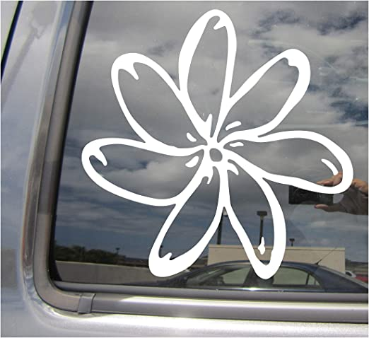 Hibiscus Tropical Flower Design Car Window Decal Bumper Sticker Hawaii Beach 370