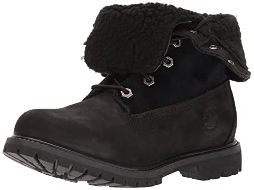 info for 3473e f00d6 Timberland Women s Teddy Fleece Waterproof Fold-Down Fashion Boots, Black,  ...