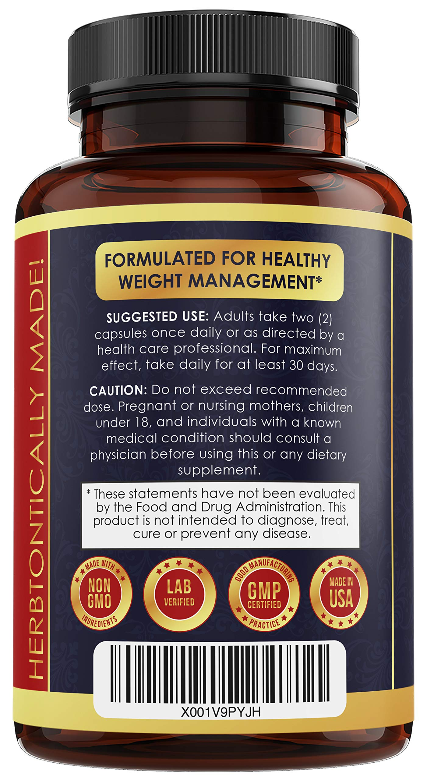 5X Potent Apple Cider Vinegar Capsules with Mother + BHB Salts Keto Diet Pills with MCT Oil, Fat Burner and Weight Loss Supplement Formula Keto for Women Men Appetite suppressant ACV Detox Support by herbtonics (Image #3)