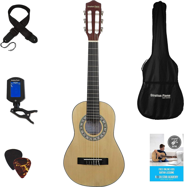 Paquete de guitarra acústica 1/4 tamaño (31 pies) de 3 a 6 años de ...