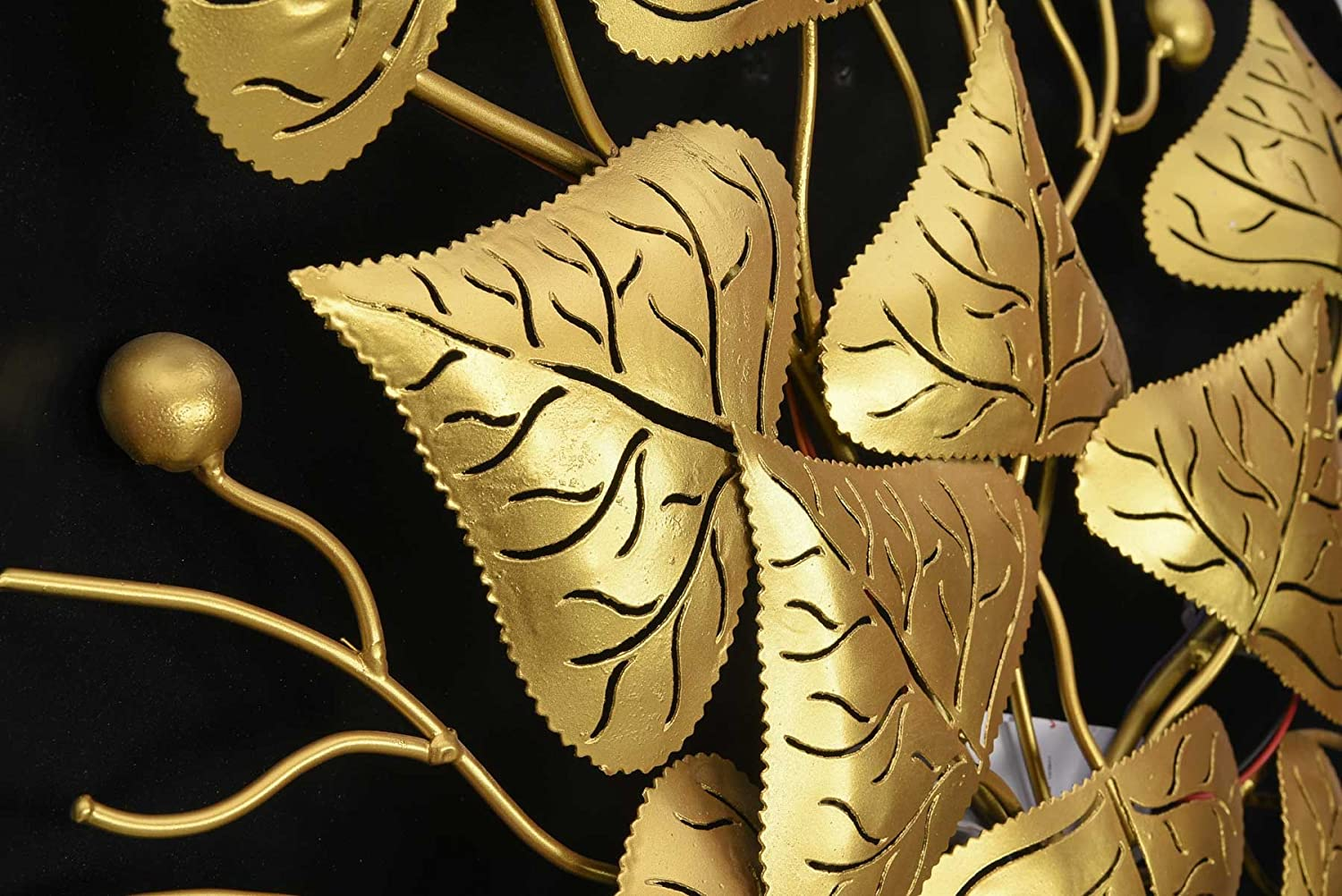 Buy Collectible India Metal Golden Leaf Design Wall Hanging Arts ...