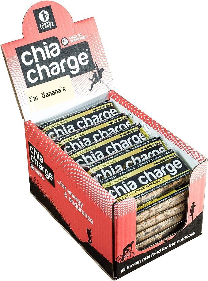 Chia Charge energía plátano panqueques - 20 x 80g barras de ...