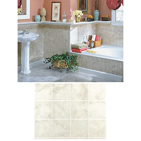 Amazon.com: Dpi Decorative Panel Milan Marble Tileboard, 1/8 ...