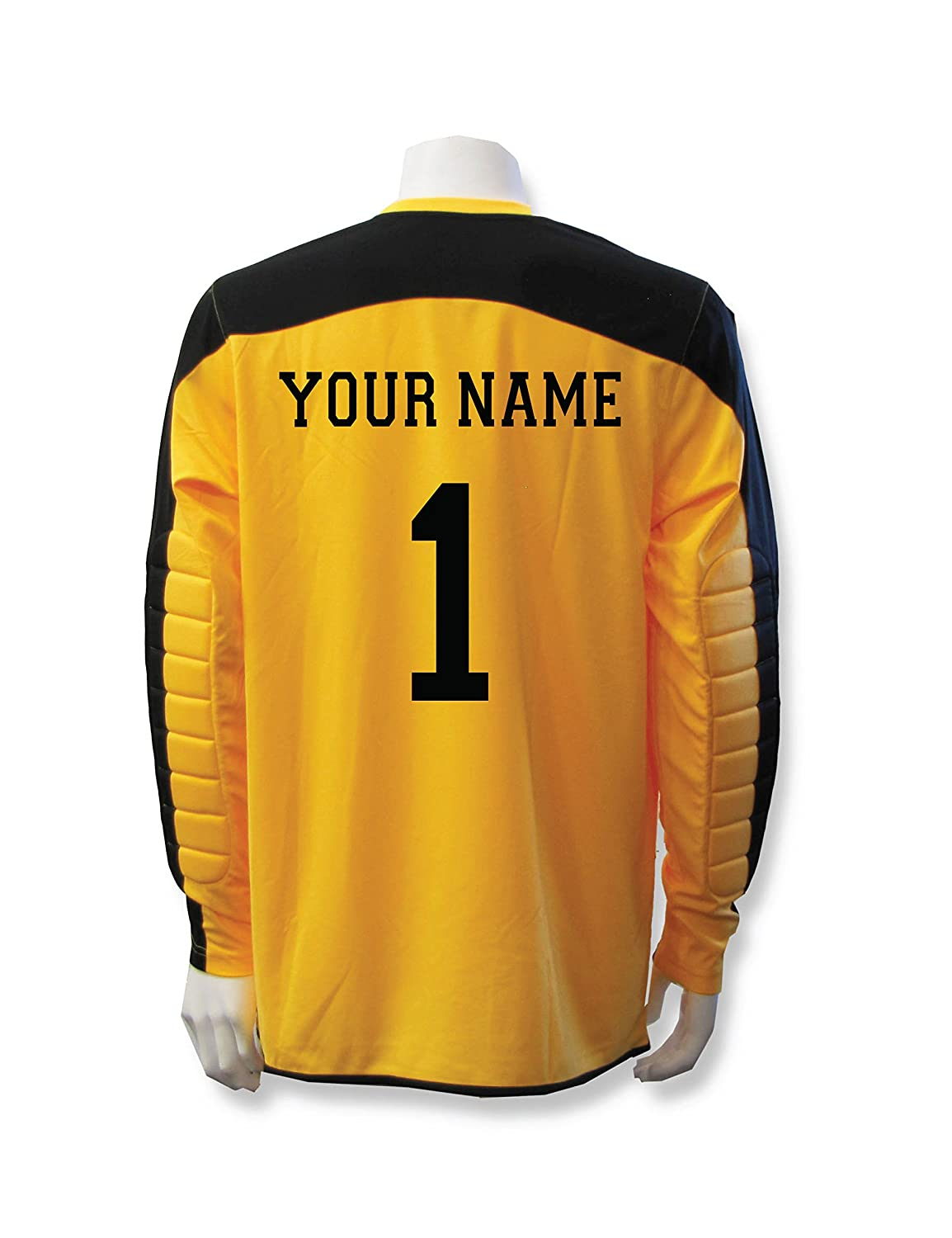 Diadora Enzo Goalkeeper Jersey Personalized with your name and number B076PVLC96 Small|ゴールド ゴールド Small