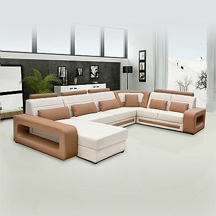 Zikra Ayansofa Furncoms 2 + 2 Seater + 1 Corner Sofa + Lounger Set (Beige)