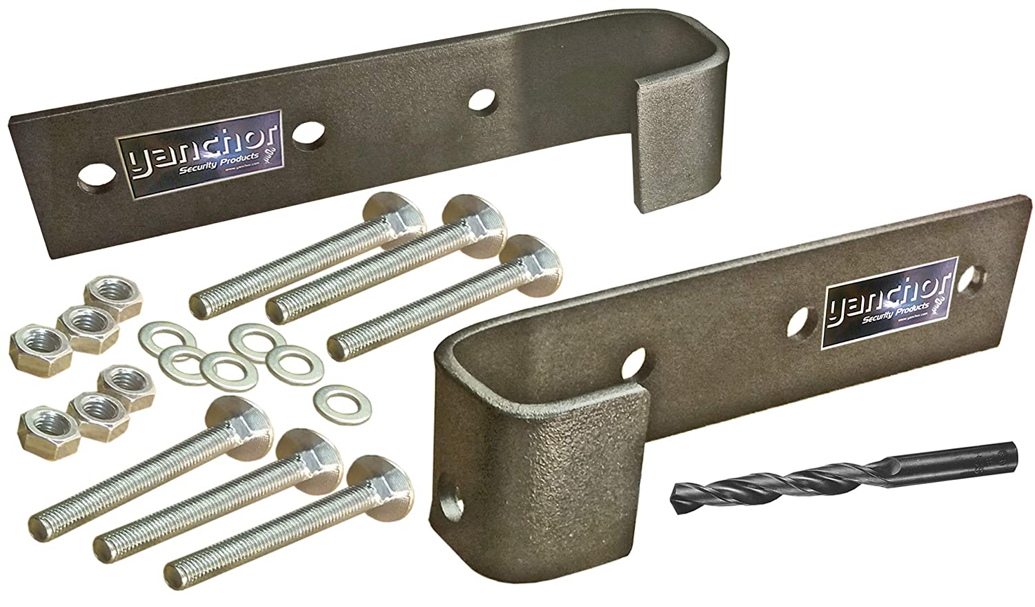 New to Market! Y anchor Heavy Duty Security hasp with top Side /& Bottom Padlock Protection