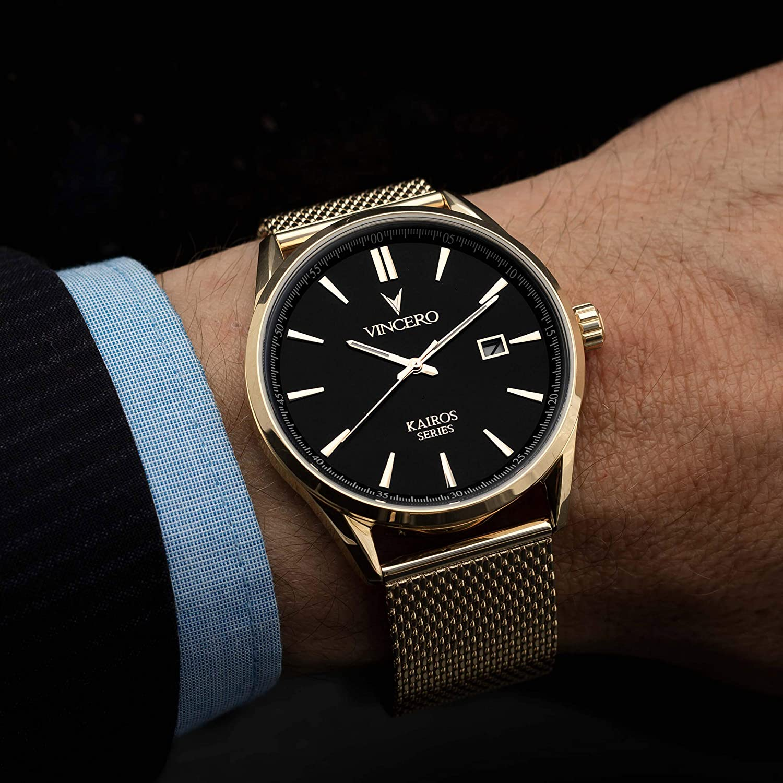 Vincero Luxury Mens Kairos Wrist Watch - 42mm Analog Watch - Japanese Quartz Movement…