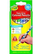 Crayola My First Easy-Grip Colored Pencils, 8 Non-Toxic, Easy to Grip, Extra Thick Pencils Red, Orange, Yellow, Green, Blue, Purple, Brown and Black Colored Pencils for Adult Coloring Books or Kids 3+