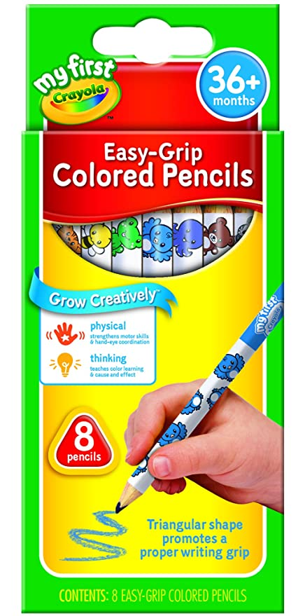 Buy Crayola My First Crayola Easy Grip Color Pencils, Multi Color ...