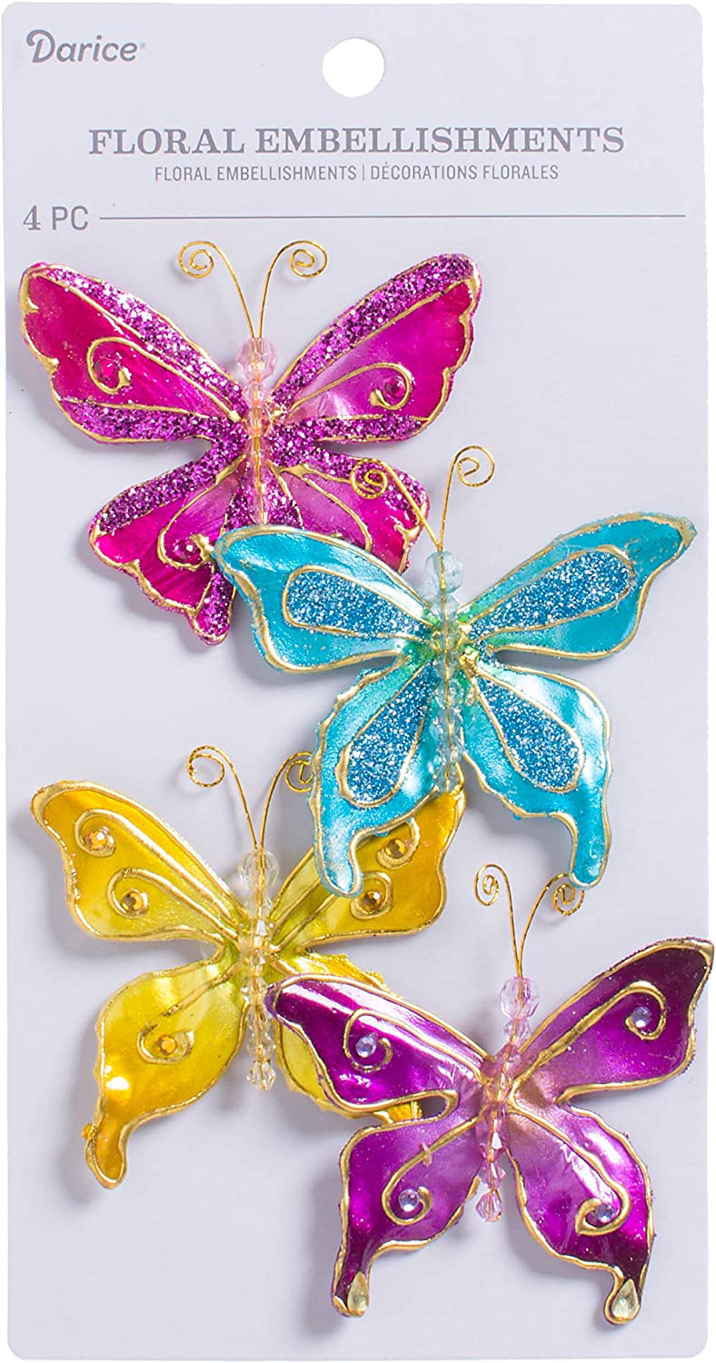 card making crafts 30mm 20  Clear Acrylic  Butterfly Buttons sewing