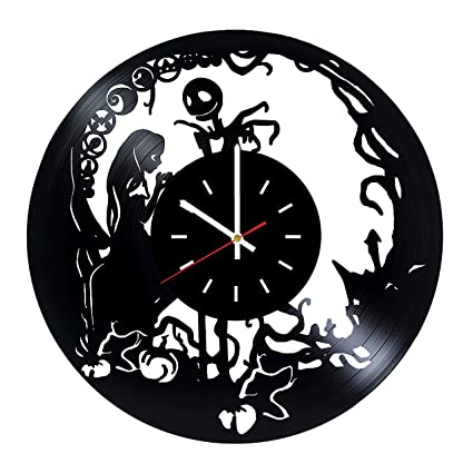 nightmare before christmas movie vinyl record wall clock nursery room or home room wall decor
