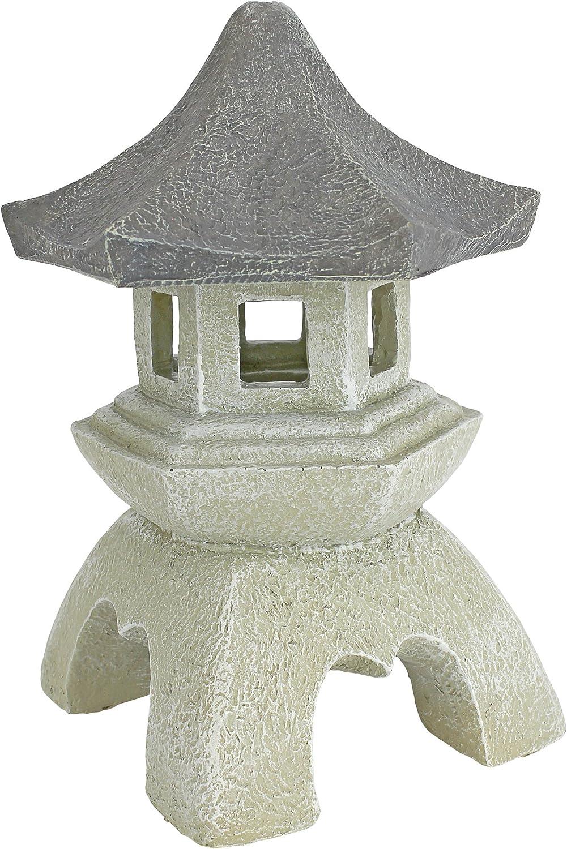 Amazon Com Design Toscano Asian Decor Pagoda Lantern Outdoor Statue Medium 10 Inch Polyresin Two Tone Stone Japanese Garden Garden Outdoor