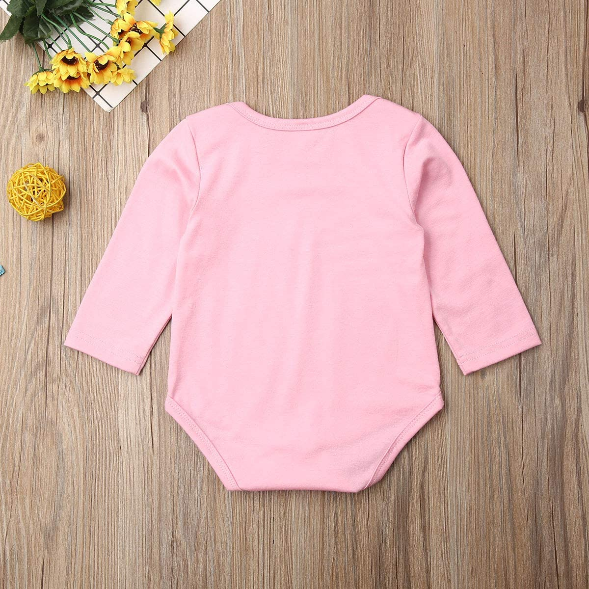 LXXIASHI Taddy Newborn Infant Baby Girl Bodysuit Pink Baby Girl Clothes Pink Shower Gift Romper Cotton Outfit