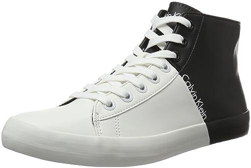 c4d714673b8242 Calvin Klein Buck Matte Smooth, Scarpe da Ginnastica Basse Uomo,  (White/Black