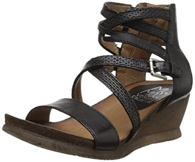 d1f7ec47e03 Miz Mooz Shay Women s Wedge Sandal Black