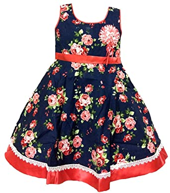 4a654ce32 kashvi Girls Cotton Daily wear Dresses Girls Party wear Dresses. Cotton. Kid  wear Dress. Baby wear Dress.: Amazon.in: Clothing & Accessories