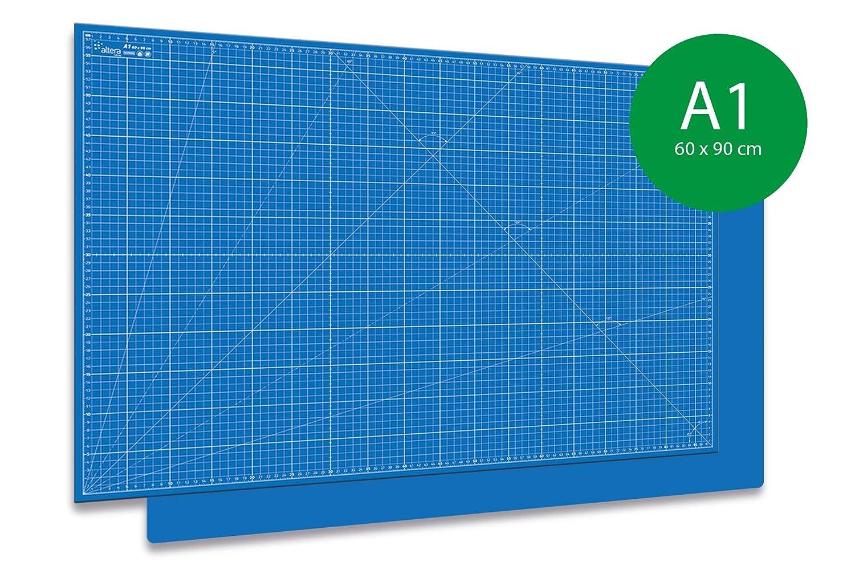 60x90cm A1 Blau 3-teilig Sparset Altera Schneidematte schneidunterlage A1 selbstheilend