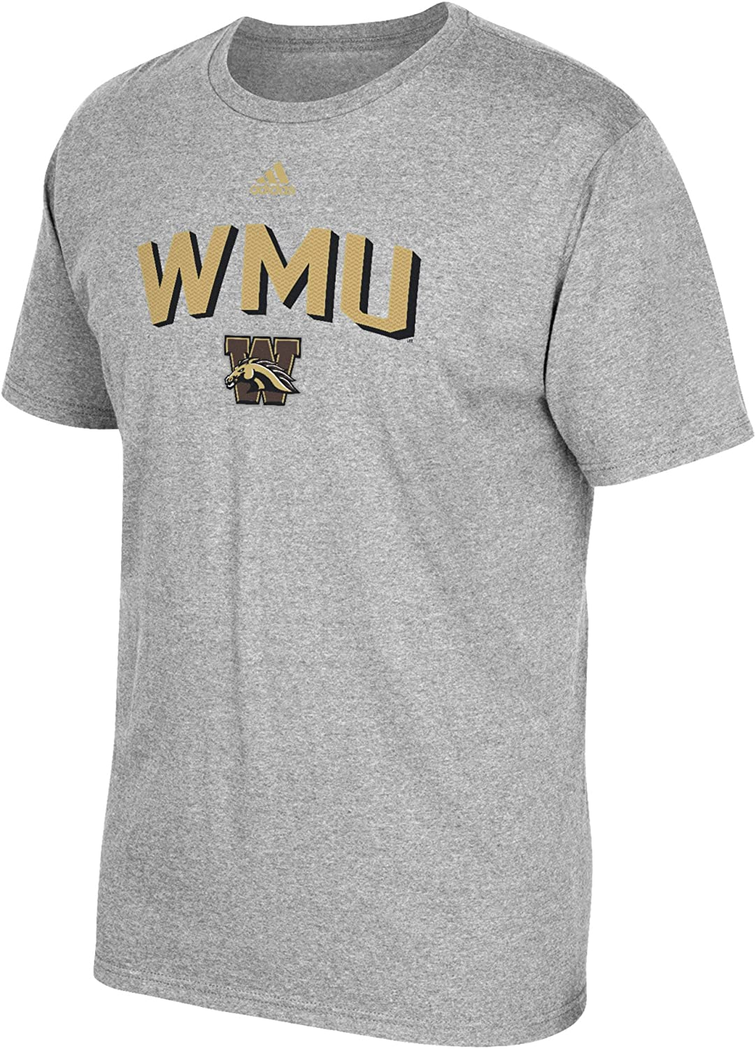 NCAA Western Michigan Broncos Men's Miracle Short Sleeve Go-To Tee, Large, Gray