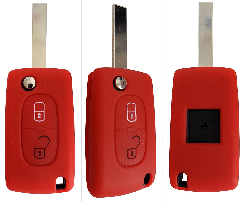 Peugeot Auto de llave m/óvil Key Cover Case Funda Silicona para 207/307/308/5008 CK