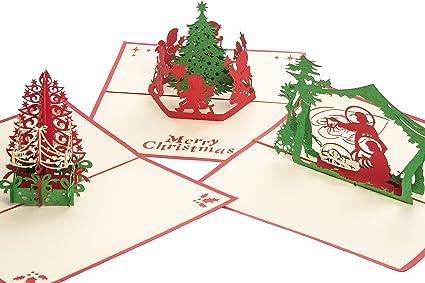 3d tarjeta de felicitación tarjeta de regalo de Navidad ...