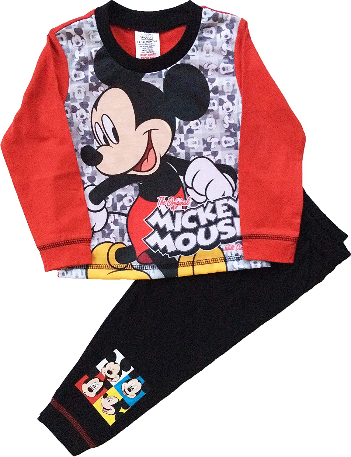 Boy/'s Disney Pyjamas DONALD DUCK or MICKEY MOUSE PJs Sizes 12 months-4 years