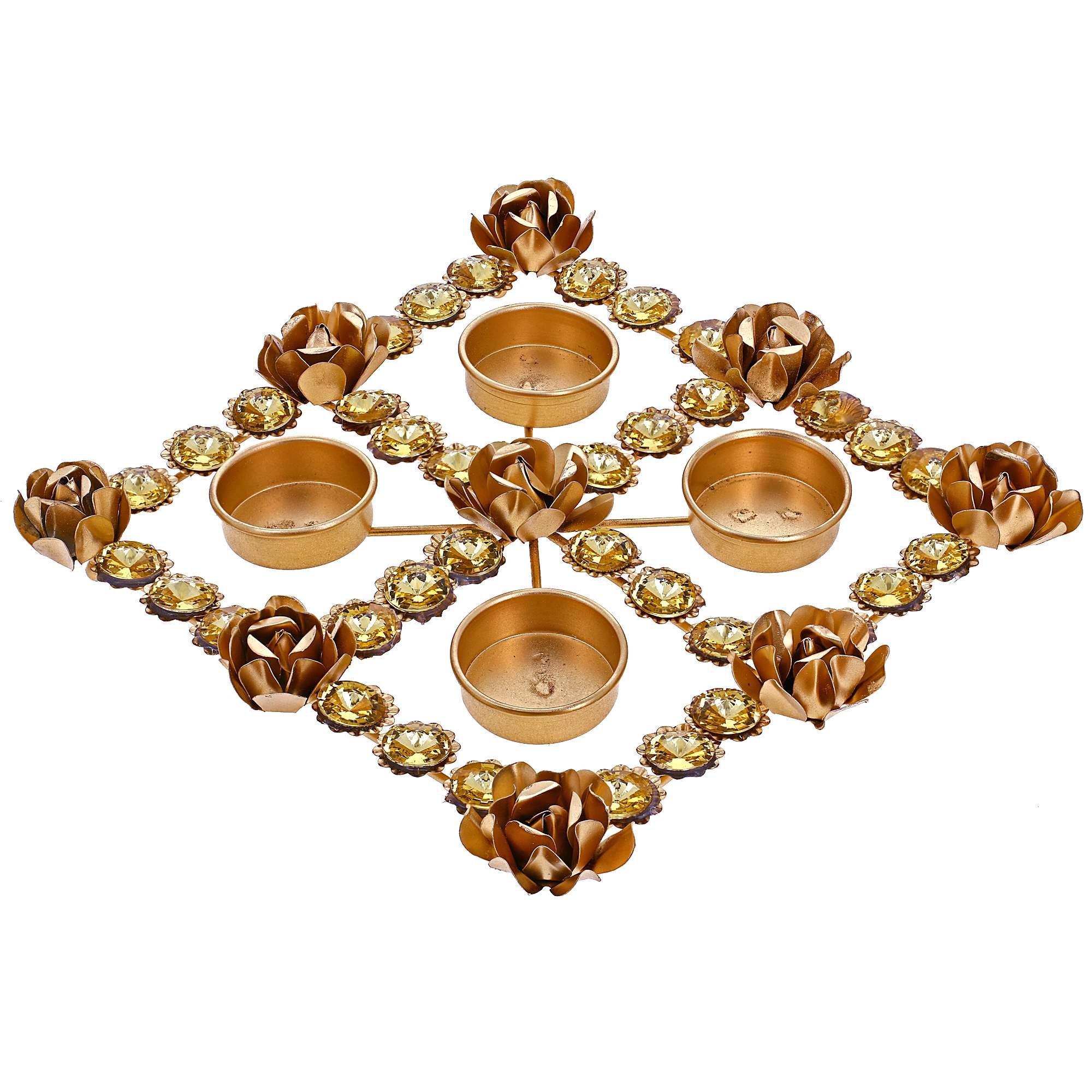 ShalinIndia Beautiful Diya Christmas Rangoli Decorations & Puja -Perfect for Everyday Decor- Lovely Gift Idea for Any Occasion