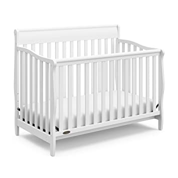 Stanton Convertible Crib, White, Easily Converts To Toddler Bed Day Bed Or  Full Bed