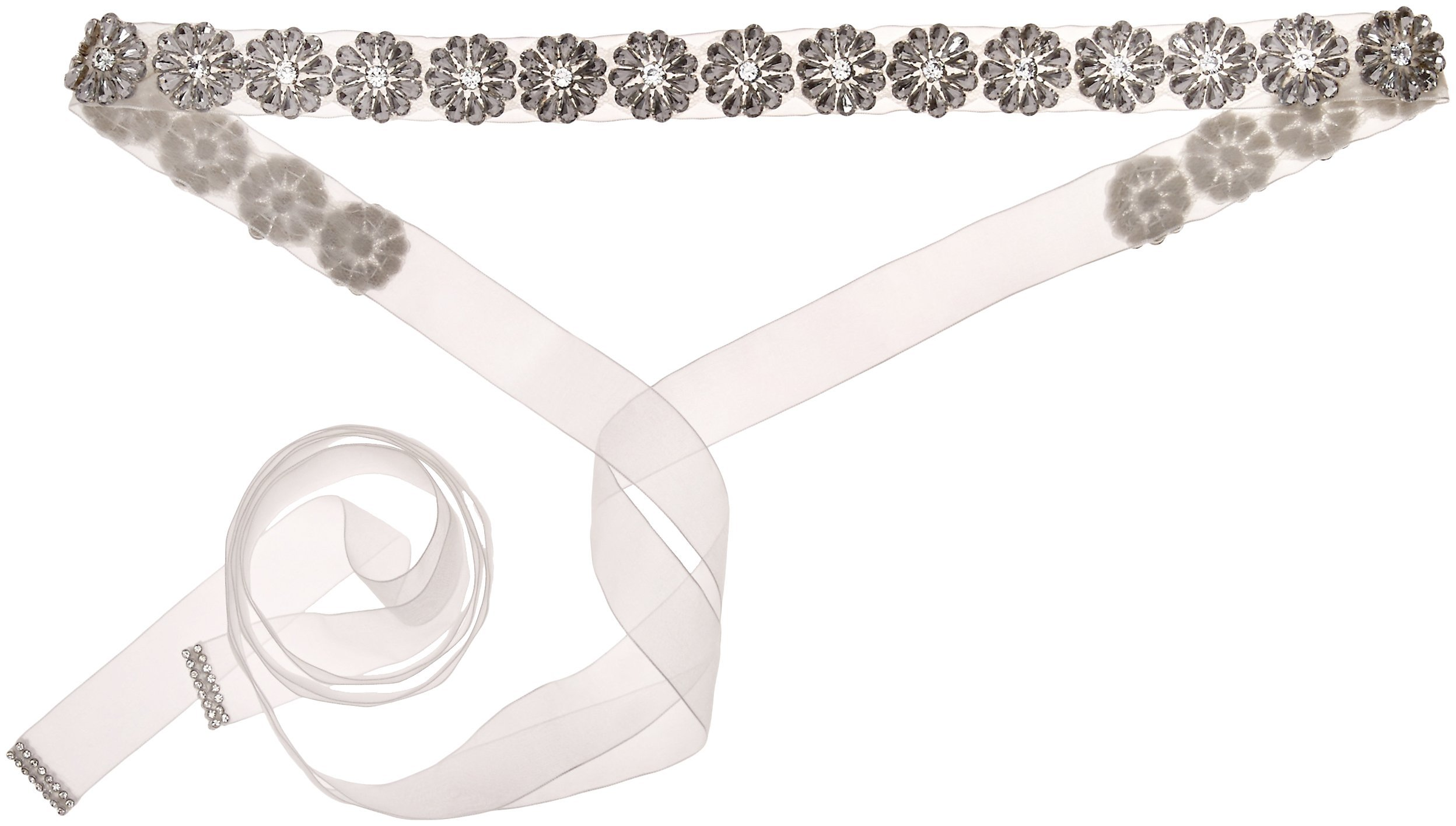 Nina Women's Rayleen Boho Floral Organza Bridal Belt, Ivory, One Size