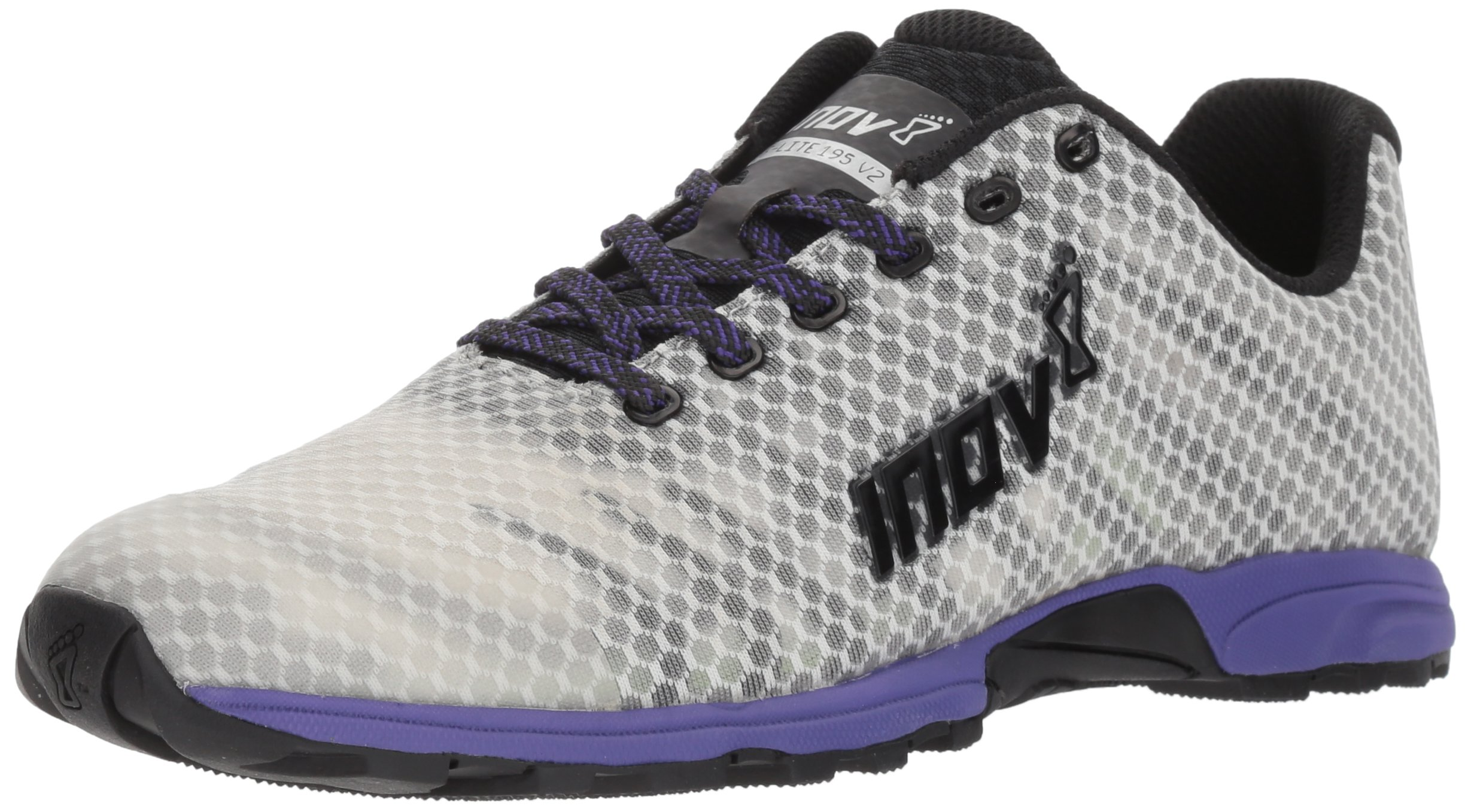 inov-8 Women's F-Lite 195 v2 (W) Cross-Trainer-Shoes, Grey/Purple, 7 a US