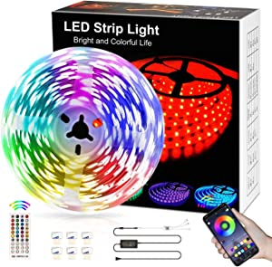 LED Strip Light16.4ft,LED Lights Room Decor for Teen Girls,Music Sync Neon Strip Lights for Bedroom,Wedding, Party, Home Decor