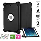 iPad mini Case, iPad mini 2 Case,iPad mini 3 case, Aken® Series Smart Cover [Ultra Slim] [Light Weight] [Perfect Fit] [Auto Wake Up/sleep Function] for Ipad Mini1/2/3(Black)